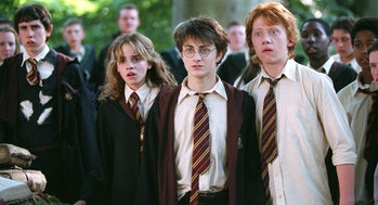 Daniel Radcliffe, Emma Watson, and Rupert Grint in Harry Potter and the Prisoner of Azkaban