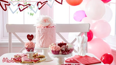 Valentine's Cake Background