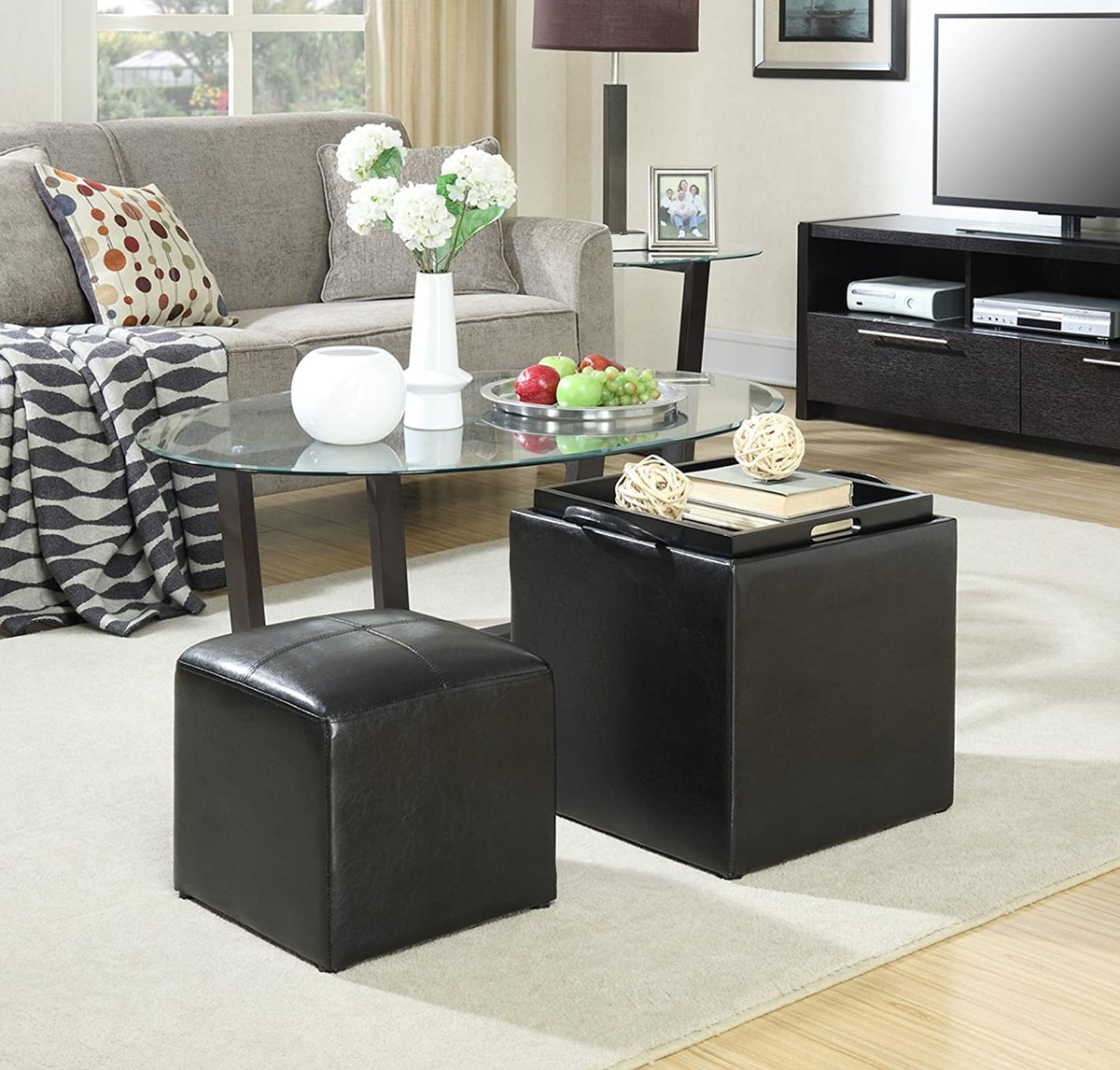 Convenience Concepts Single Ottoman with Stool