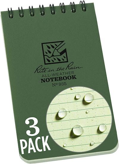 Rite in the Rain Weatherproof Spiral Notebook