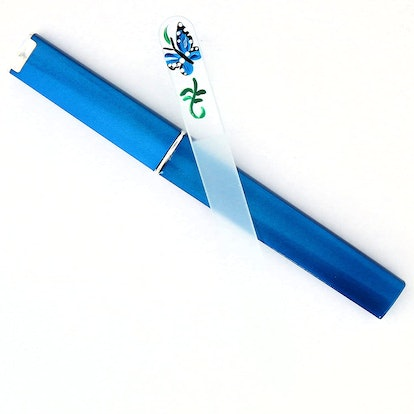 Classy Nail Files Blue Butterfly Hand Painted Nail File