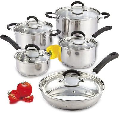 Cook N Home Stainless Steel Cookware Set (10 Pieces)