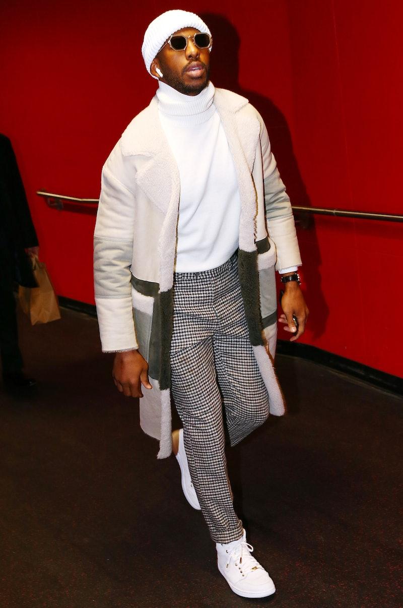 Chris Paul arrival outfit.