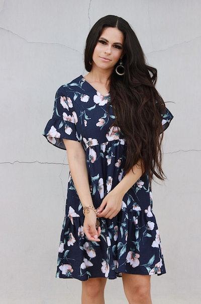 Floral Nursing Dress With Pockets