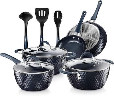 Nutrichef Nonstick Cookware (11 Pieces)