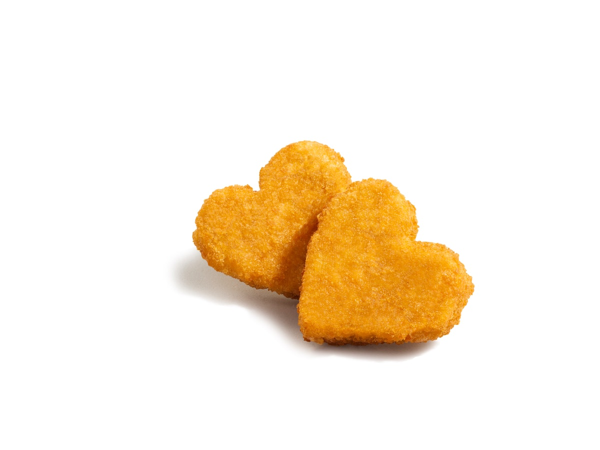 Here's how to get Tyson's heart-shaped chicken Nuggets of Love this February.