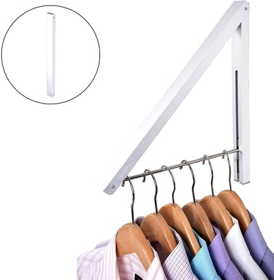 Stock Your Home Mounted Folding Clothes Hanger