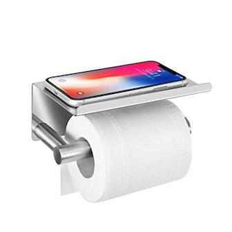 UgBaBa Toilet Paper Holder with Anti-Drop Larger Phone Shelf