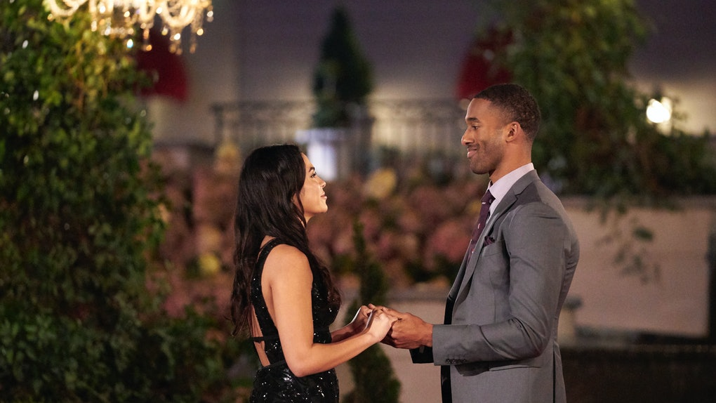 Brittany and Matt James in The Bachelor.