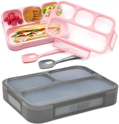Bizz Bento Lunch Boxes with Spoon (2-Pack)