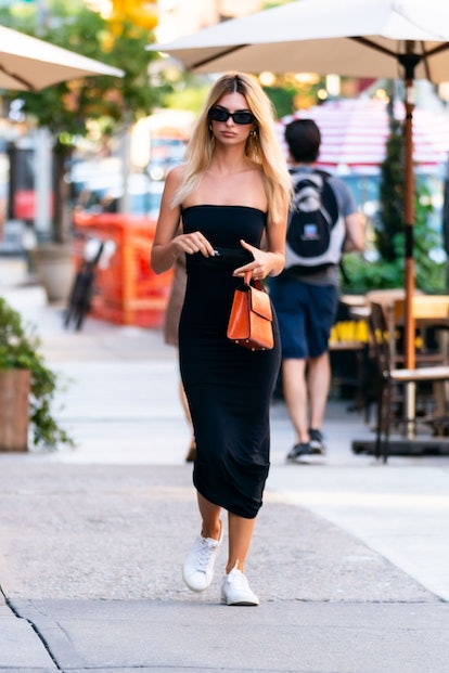 Emily Ratajkowski is seen in Tribeca on July 11, 2020 in New York City.