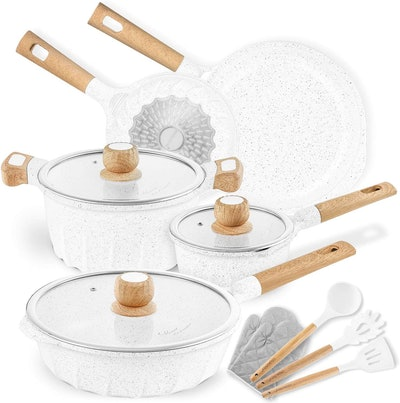 COOKLOVER Marble Coating Cookware Set (13 Pieces)