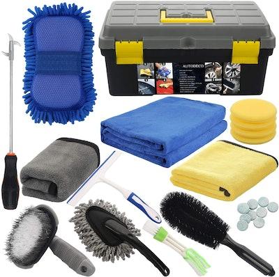 AUTODECO Microfiber Car Wash Cleaning Set (25-Pieces)