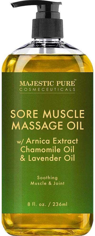 MAJESTIC PURE Arnica Sore Muscle Massage Oil for Body