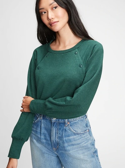 Maternity Nursing Snap-Button Sweatshirt