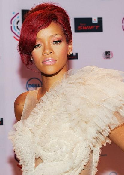 Rihanna at the MTV Europe Music Awards in 2010.