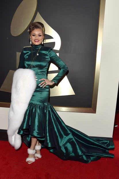 Singer Andra Day attends The 58th GRAMMY Awards at Staples Center on February 15, 2016 in Los Angeles, California.