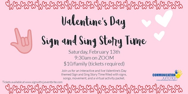 Valentine's Day Sign & Sing story time