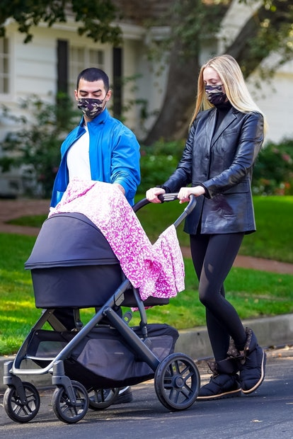 Sophie Turner on her daily walk with Joe Jonas on November 23, 2020 in Los Angeles.