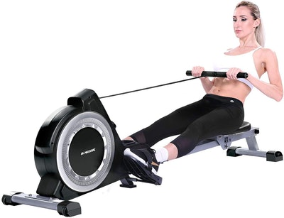 MaxKare Magnetic Rowing Machine Folding Exercise Rower