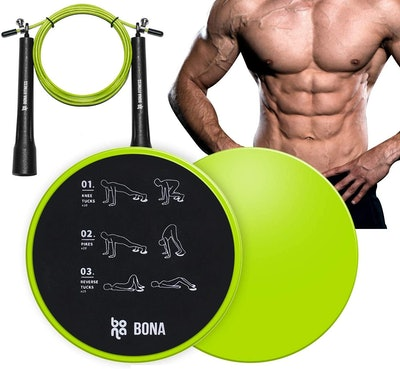 BONA Exercise Sliders and Jump Rope