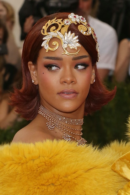 Rihanna at the Met Gala in 2015.