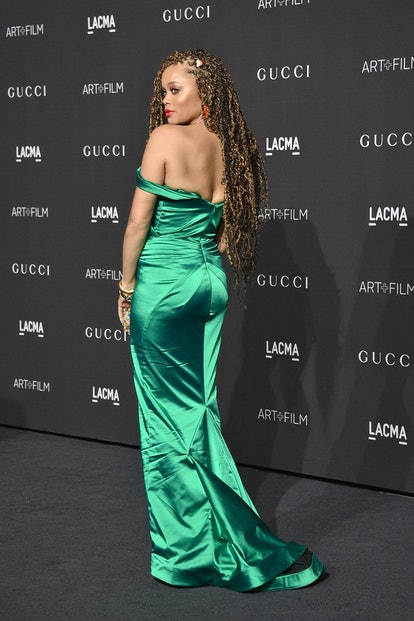 Andra Day attends LACMA Art + Film Gala 2018 at Los Angeles County Museum of Art on November 3, 2018 in Los Angeles, CA.
