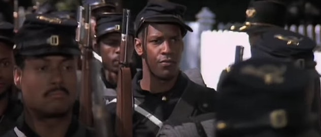 1989's 'Glory' tells the story of the 54th Regiment of the Massachusetts Volunteer Infantry,