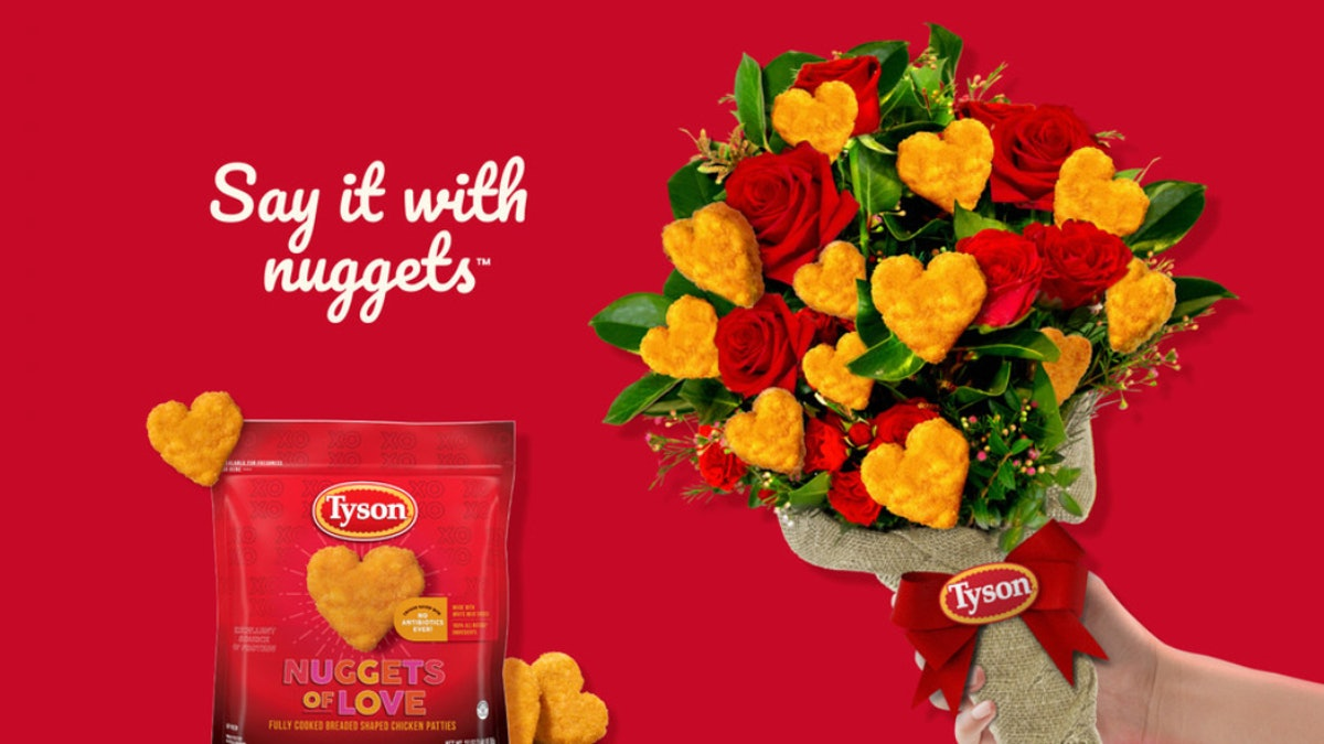 Here's how to get Tyson's heart-shaped chicken Nuggets of Love this Valentine's Day.