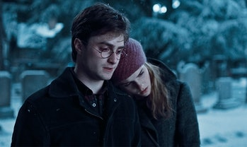 Daniel Radcliffe and Emma Watson in Harry Potter and the Deathly Hallows Part 1
