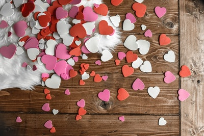 Heart-Shaped Cut Outs Background