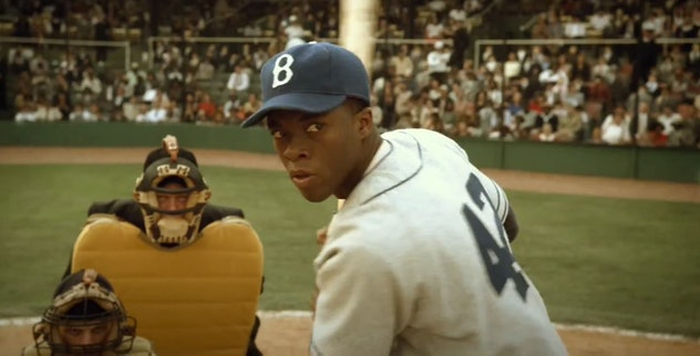 Late actor Chadwick Boseman portrayed the great Jackie Robinson in '42.'