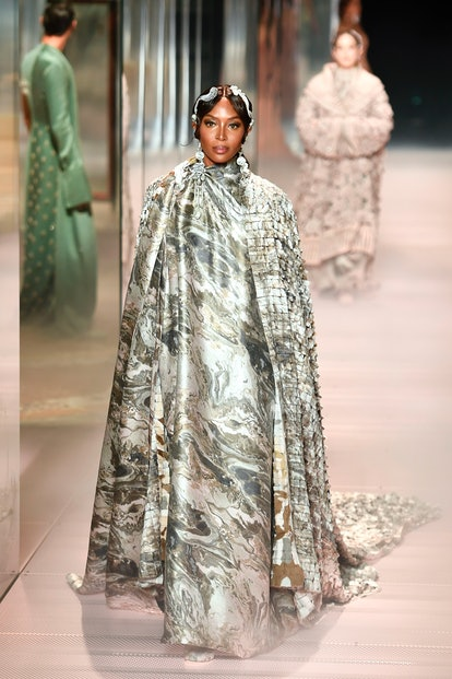 Naomi Campbell walks in Fendi's Spring/Summer 2021 Couture Show presented by Kim Jones.