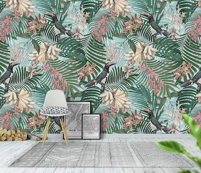 Tropical Toucan Birds Jungle Wallpaper
