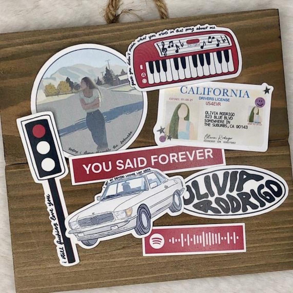 Olivia Rodrigo Drivers License Stickers