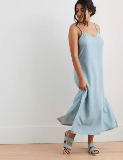 Chambray Midi Slip Dress