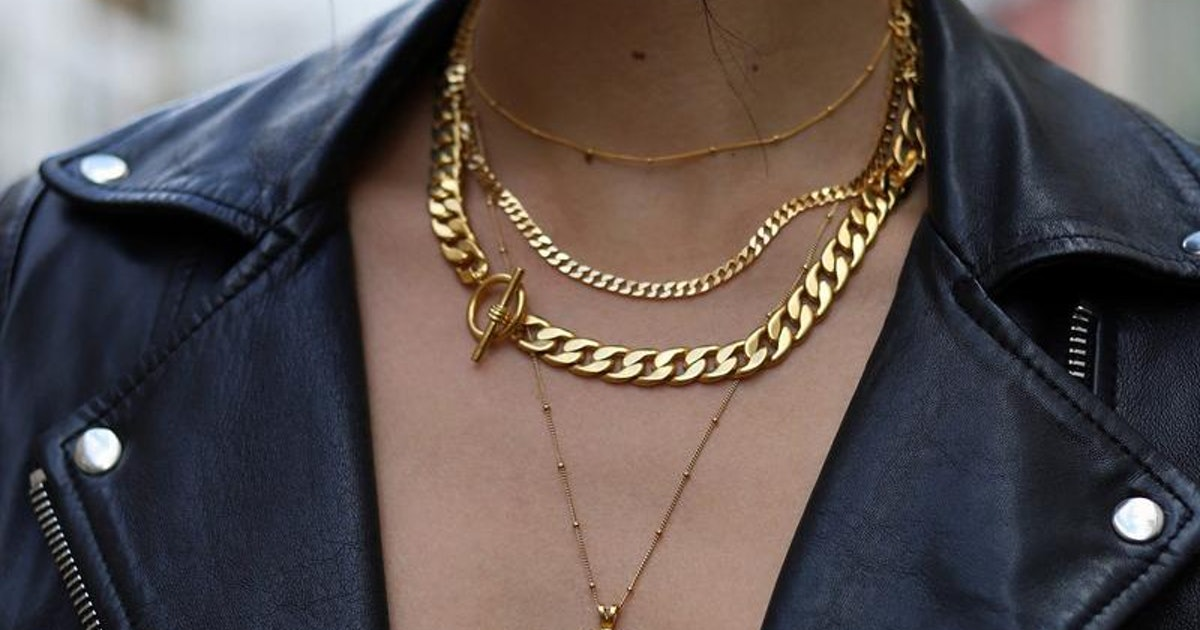 This Chunky Chain Jewelry Trend Will Complete Any Outfit
