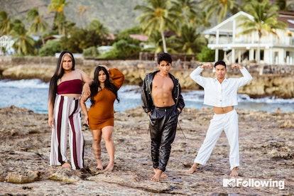 The cast of MTV Following: Bretman Rock