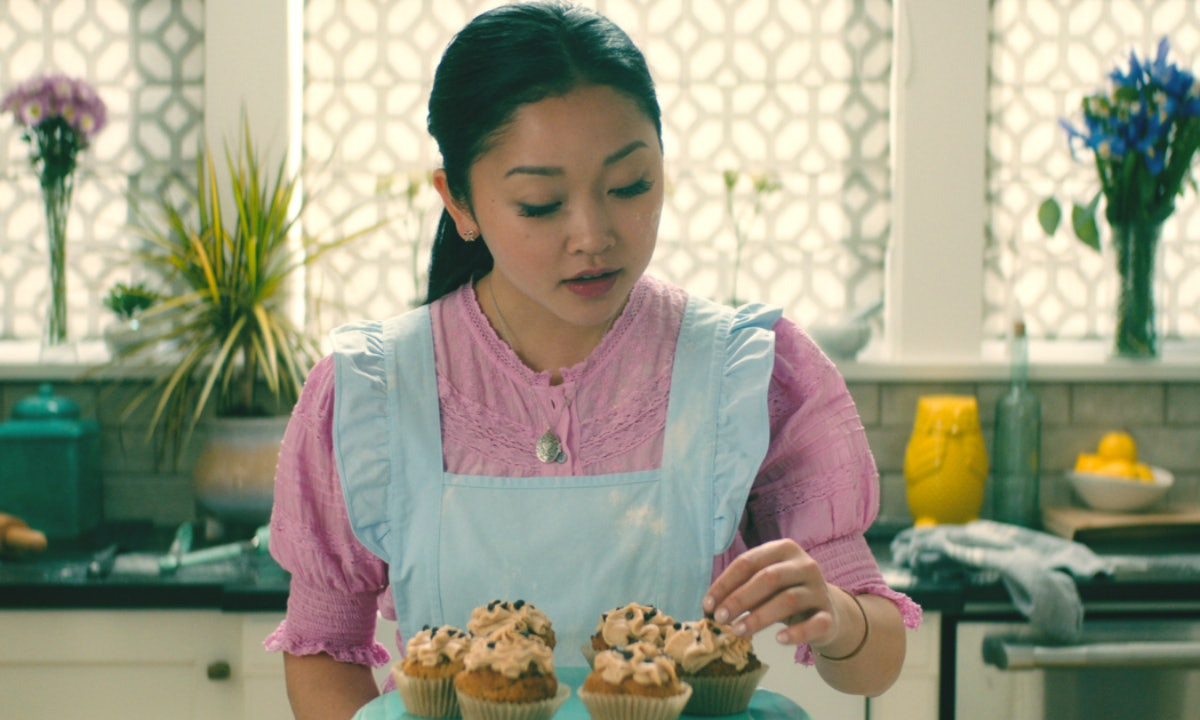 Lara Jean from 'To All the Boys I've Loved Before' bakes cupcakes in her kitchen.