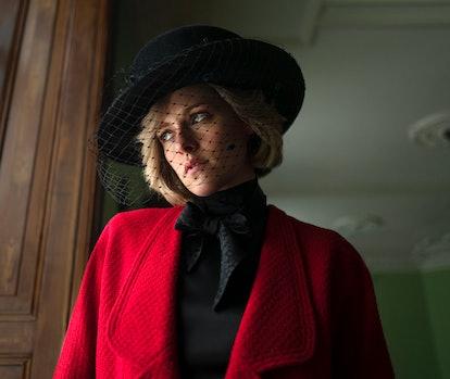 "Kristen Stewart as Princess Diana in ""Spencer"" film ."
