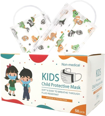 HSTORY  Kids Disposable Protective Safety Face Mask-100 Pack