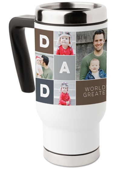 Dad Color Block Travel Mug