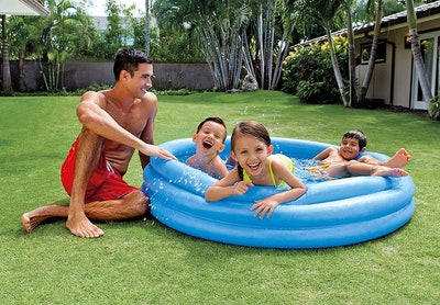 INTEX Crystal Blue Kids Outdoor Inflatable Swimming Pool