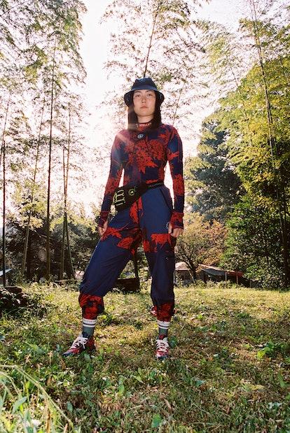 Ren Hayakawa models for adidas by Stella McCartney Spring/Summer 2021 Campaign.