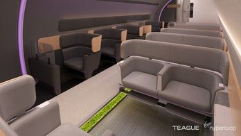 Virgin Hyperloop's pod interior.