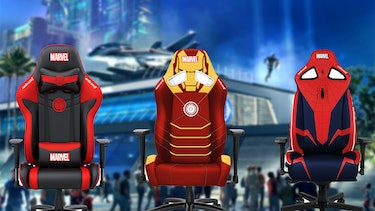 Three AndaSeat Jungle chairs in Marvel themes.