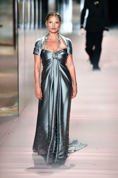 Kate Moss walks in Fendi's Spring/Summer 2021 Couture Show presented by Kim Jones.