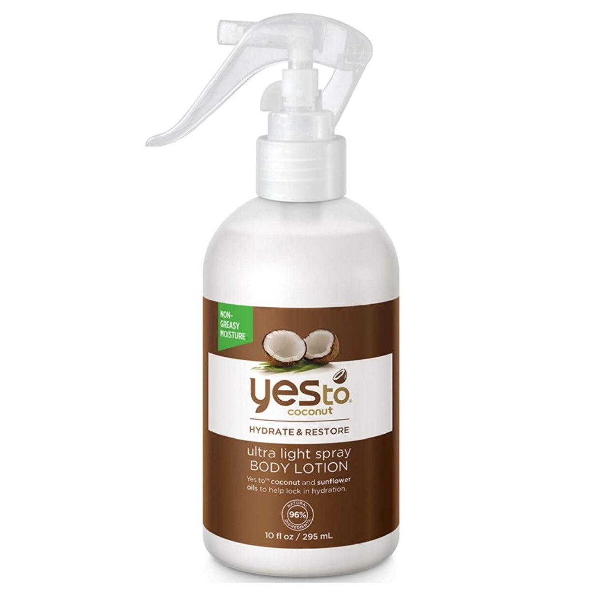 Yes to Coconut Ultra Light Spray Body Lotion, 10 Oz.