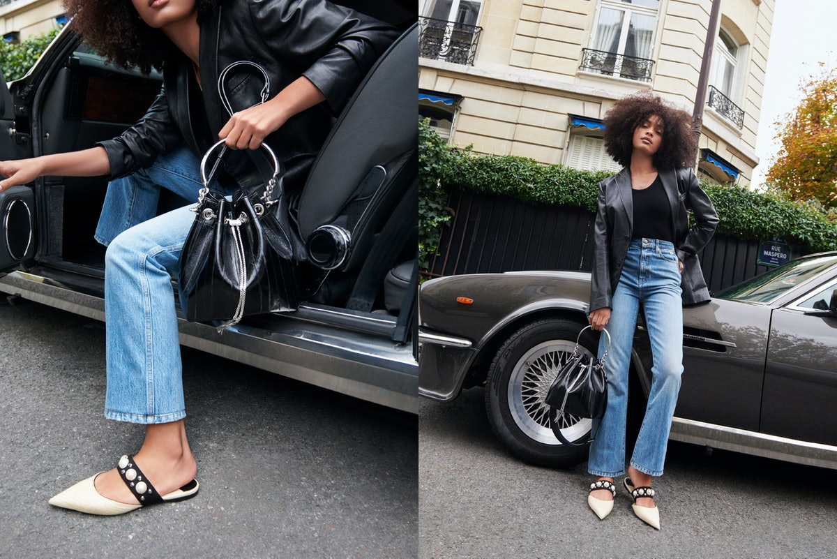 French model and artist Sharon Alexie star in Jimmy Choo's Spring/Summer 2021 Campaign.