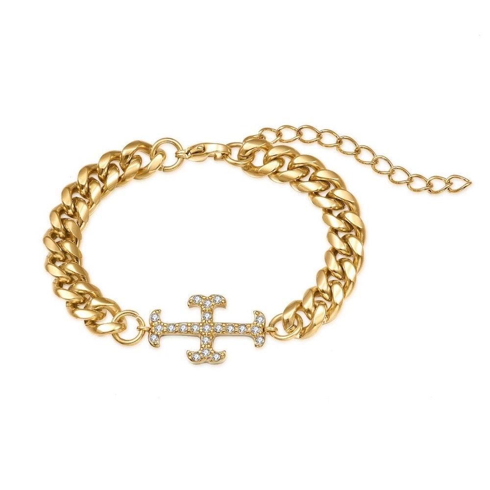 Iced Cross Bracelet
